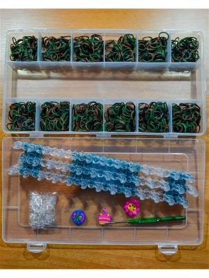 Набор резинок для плетения 600 большой станок брелоки крючок Loom Bands. Цвет: прозрачный