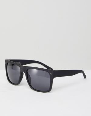 Jeepers Peepers Черные квадратные солнцезащитные очки Jeeper. Цвет: черный