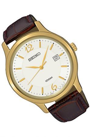 Часы Seiko. Цвет: бордовый