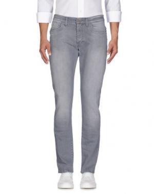 Джинсовые брюки BIKKEMBERGS. Цвет: серый