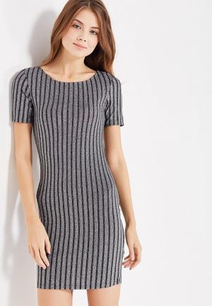 Платье Modis. Цвет: серебряный