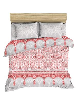 Комплект постельного белья Последний богатырь из ранфорса 1,5 спальный Василиса. Цвет: серый, красный
