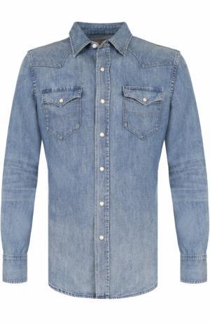 Джинсовая рубашка Polo Ralph Lauren. Цвет: синий