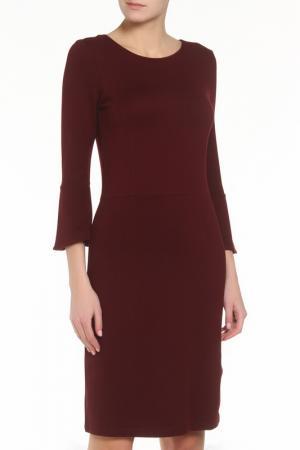 Платье ZERO. Цвет: бордовый