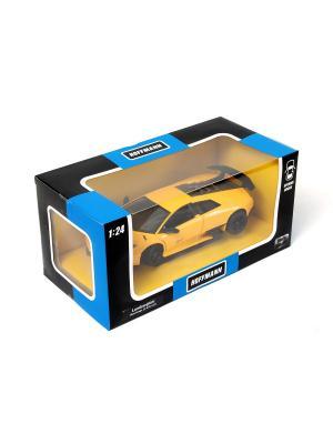 Машина металлическая Lamborghini Murcielago LP 670-4 SV 1:24. HOFFMANN. Цвет: желтый