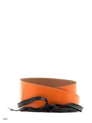 Пояс Xenia Dukova. Цвет: оранжевый, черный