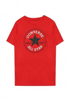 Футболка Converse. Цвет: красный