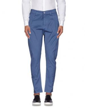 Повседневные брюки EXIBIT. Цвет: грифельно-синий