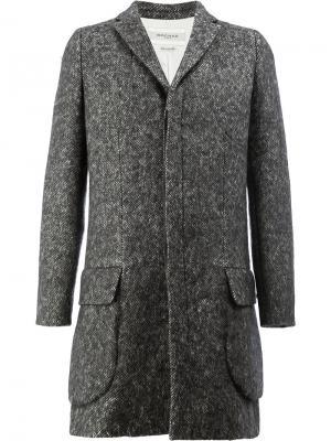 Пальто с потайной застежкой Rochas. Цвет: серый