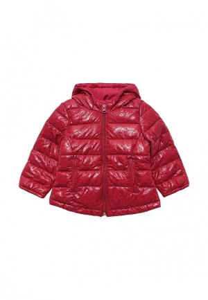 Куртка утепленная United Colors of Benetton. Цвет: бордовый