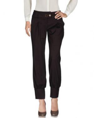 Повседневные брюки TAGLIA42. Цвет: темно-коричневый