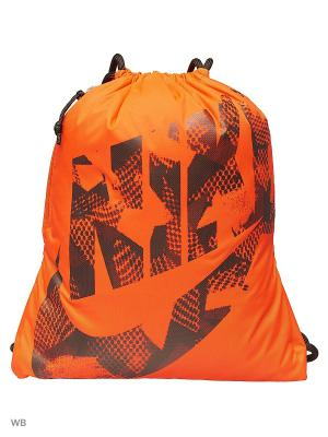 Рюкзак NIKE HERITAGE GYMSACK. Цвет: оранжевый