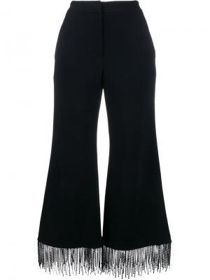 Расклешенные брюки с бахромой Jonathan Simkhai. Цвет: синий