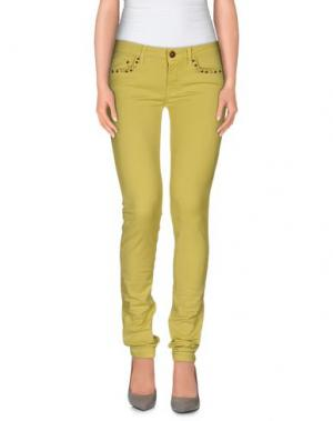 Повседневные брюки REIGN. Цвет: кислотно-зеленый