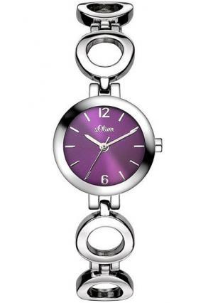 Наручные часы s.Oliver. Цвет: серебристый