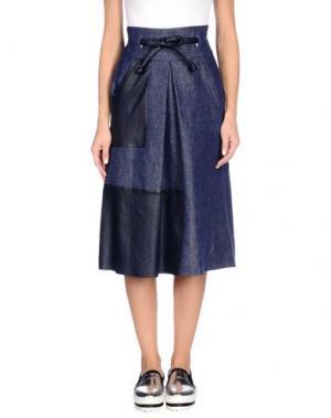 Джинсовая юбка MARTIN GRANT. Цвет: синий