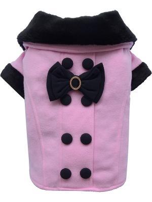 Пальто Doggy Dolly. Цвет: розовый