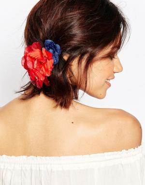 Neve & Eve Резинка для волос с цветами. Цвет: розовый