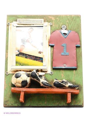Фоторамка Футбол 9х13см PLATINUM quality. Цвет: зеленый, коричневый, бежевый