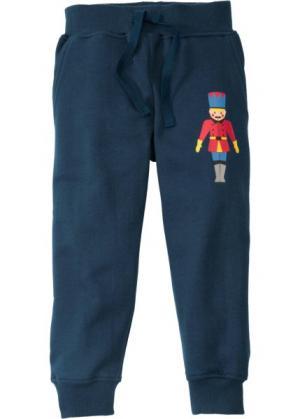 Трикотажные брюки (темно-синий с рисунком) bonprix. Цвет: темно-синий с рисунком