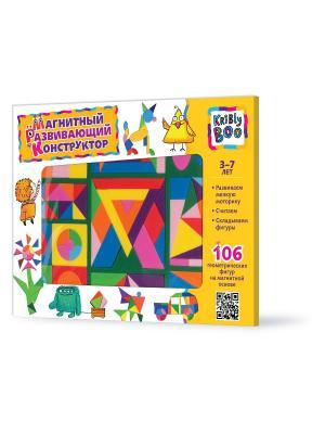 Магнитный развивающий конструктор, 106 деталей Kribly Boo. Цвет: розовый, желтый, синий, зеленый, голубой, оранжевый