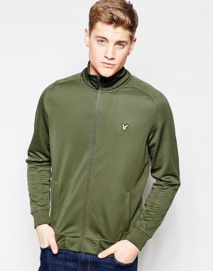 Lyle & Scott Зеленая спортивная куртка. Цвет: зеленый