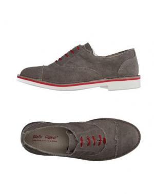 Обувь на шнурках WALLY WALKER. Цвет: серый