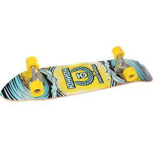 Скейт круизер  Wave Yellow/Light Blue 7.8 x 32 (81.2 см) Юнион. Цвет: желтый,голубой