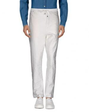 Повседневные брюки COSTUME NATIONAL HOMME. Цвет: белый