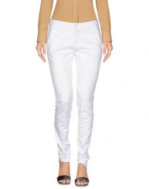 Повседневные брюки TRĒZ. Цвет: белый