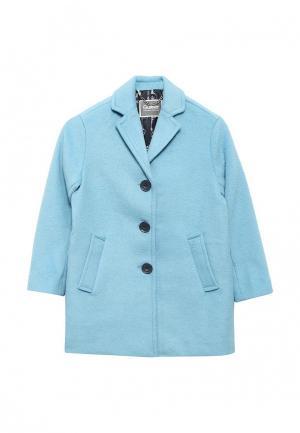 Пальто Gulliver. Цвет: голубой