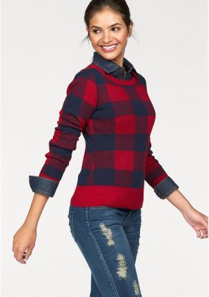 Пуловер AJC. Цвет: красный/синий