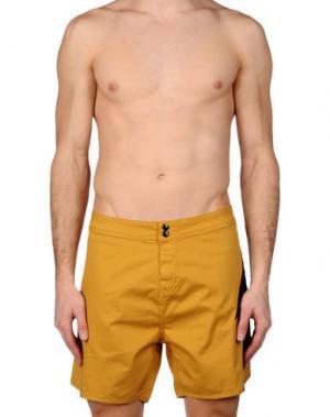 Пляжные брюки и шорты LIGHTNING BOLT. Цвет: охра