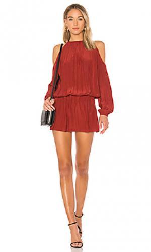 Платье с прорезями на плечах lauren RAMY BROOK. Цвет: красный