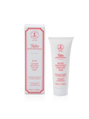 Крем для бритья Rose Shaving Cream Tube 75мл Taylor of Old Bond Street. Цвет: молочный