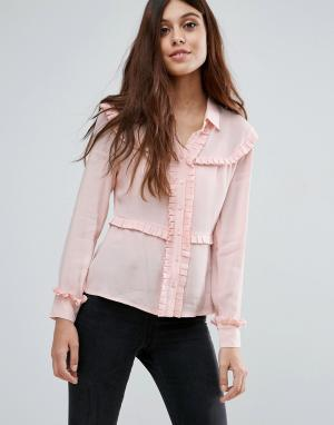 Little White Lies Рубашка с оборками Marthe. Цвет: розовый