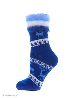 Носки для дома HOSIERY. Цвет: синий