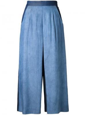Укороченные расклешенные брюки Guild Prime. Цвет: синий