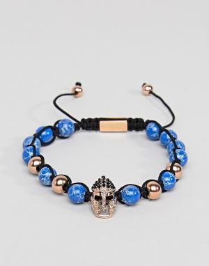 Seven London Синий браслет из бусин. Цвет: синий