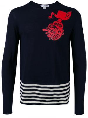 Patterned knitted sweater Comme Des Garçons Shirt. Цвет: чёрный