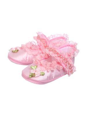 Пинетки M-BABY. Цвет: розовый