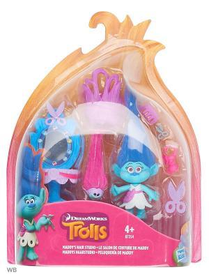 Набор тролли с аксессуарами Hasbro. Цвет: синий, желтый, розовый