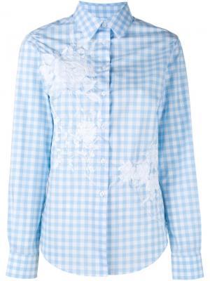 Рубашка Bernadette в клетку Alice Archer. Цвет: синий