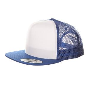 Бейсболка с сеткой  6005FW Royal/White Flexfit. Цвет: белый,синий