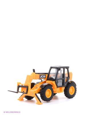 Машинка JCB из серии Стройка Погрузчик HTI. Цвет: желтый