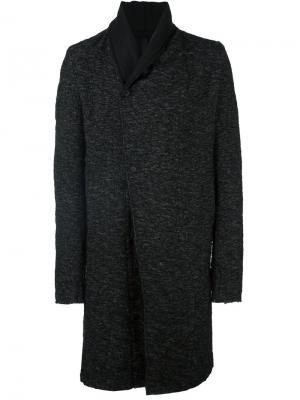 Пальто с необработанными краями Poème Bohémien. Цвет: чёрный