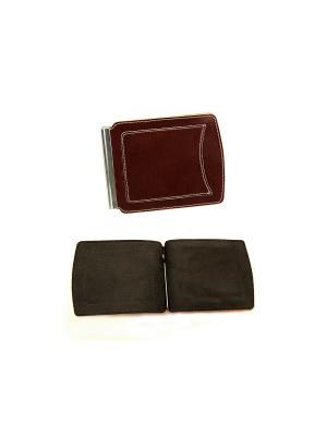 Денежный зажим с карманом Вектор. Цвет: коричневый