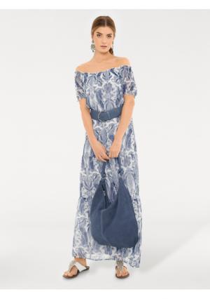 Платье макси RICK CARDONA by Heine. Цвет: голубой/белый