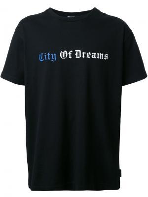 Футболка с принтом City of Dreams Cityshop. Цвет: чёрный