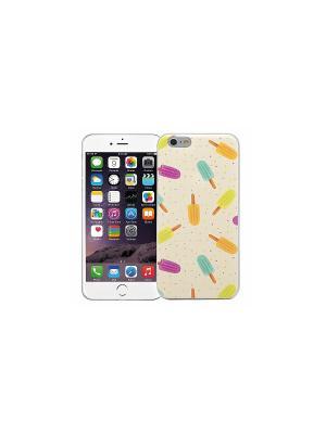 Чехол для iPhone 6/6s Эскимо (желтый) Kawaii Factory. Цвет: желтый, зеленый, розовый